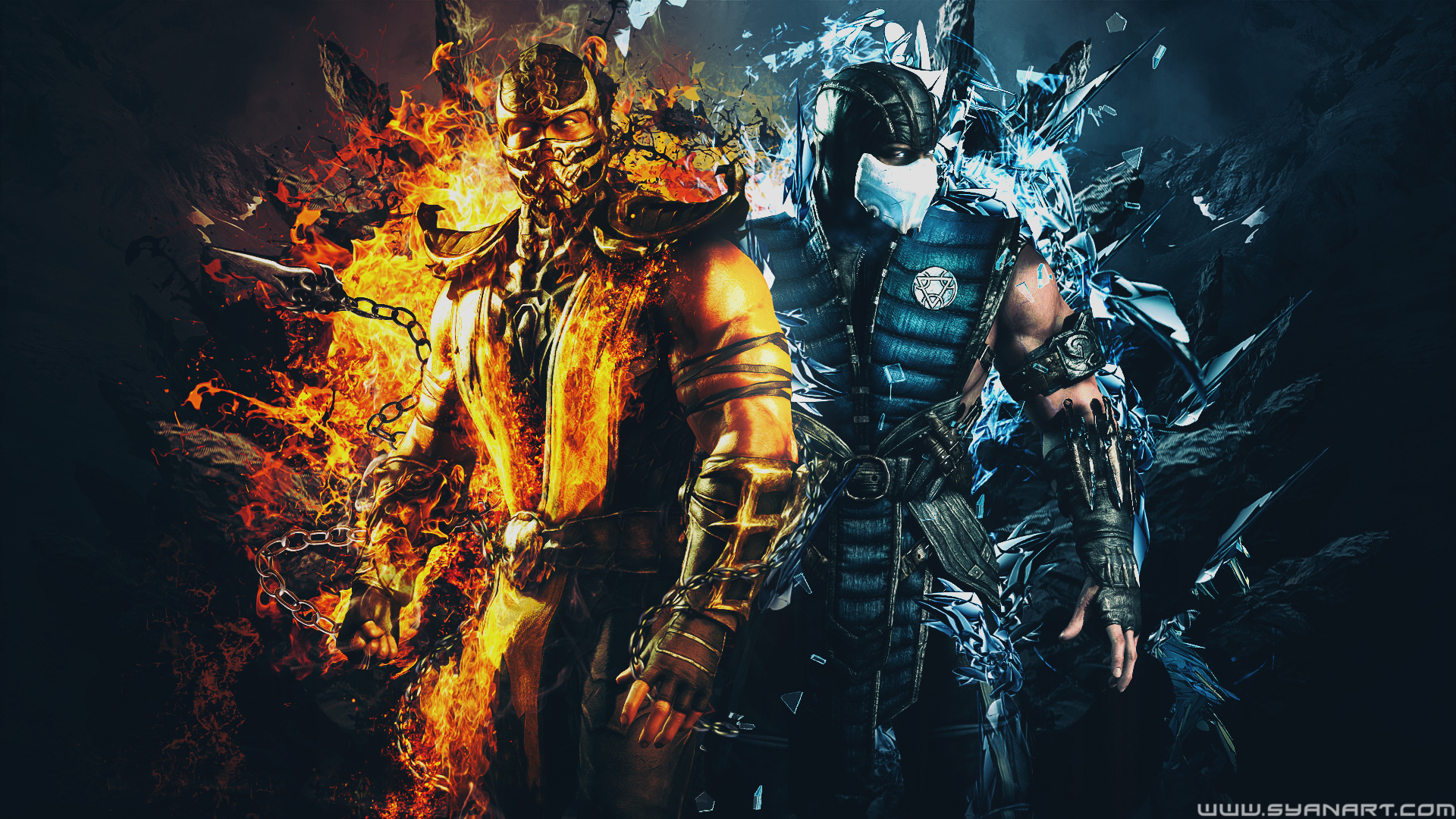 Mortal Kombat Xl Scorpion Vs Subzero Wallpaper Syanart Station