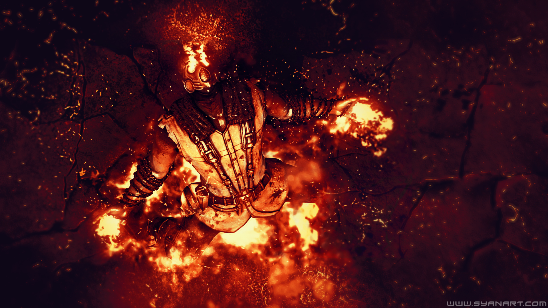 Mortal Kombat X Scorpion Wins Wallpaper Syanart Station
