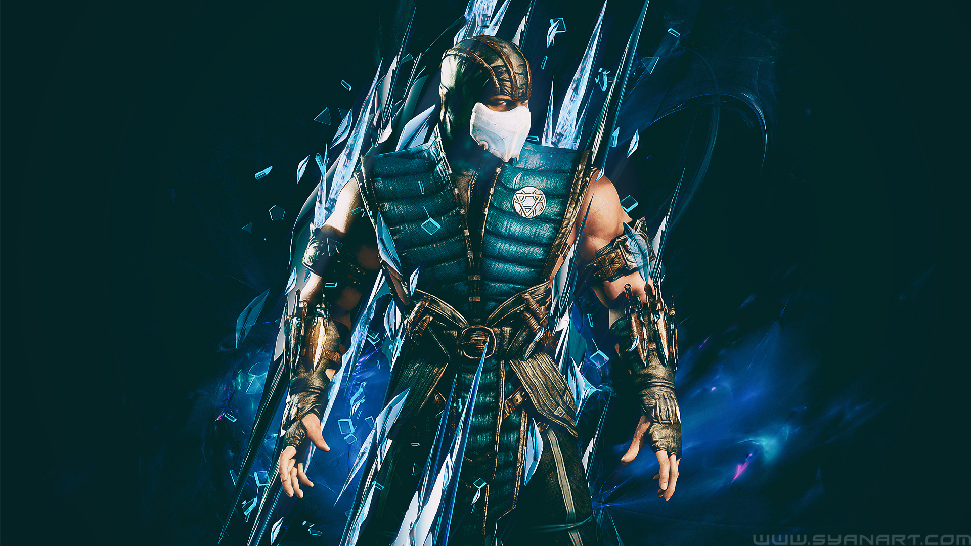 Mortal Kombat Xl Subzero Ice Master Wallpaper Syanart Station