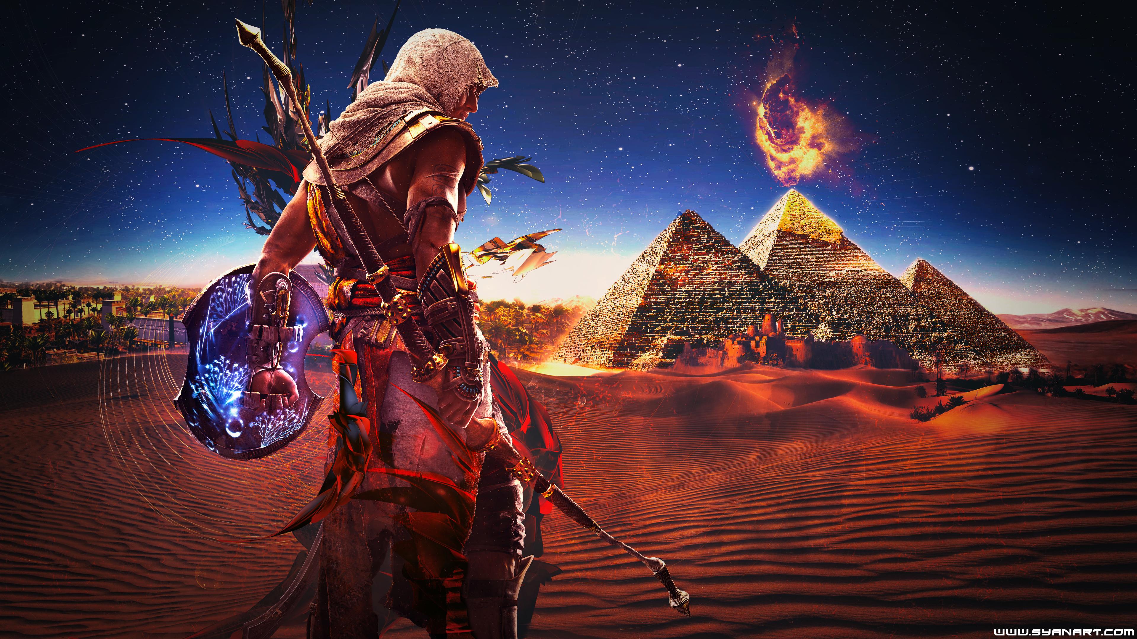 Assassin S Creed Origins 4k Bayek Wallpaper Syanart Station