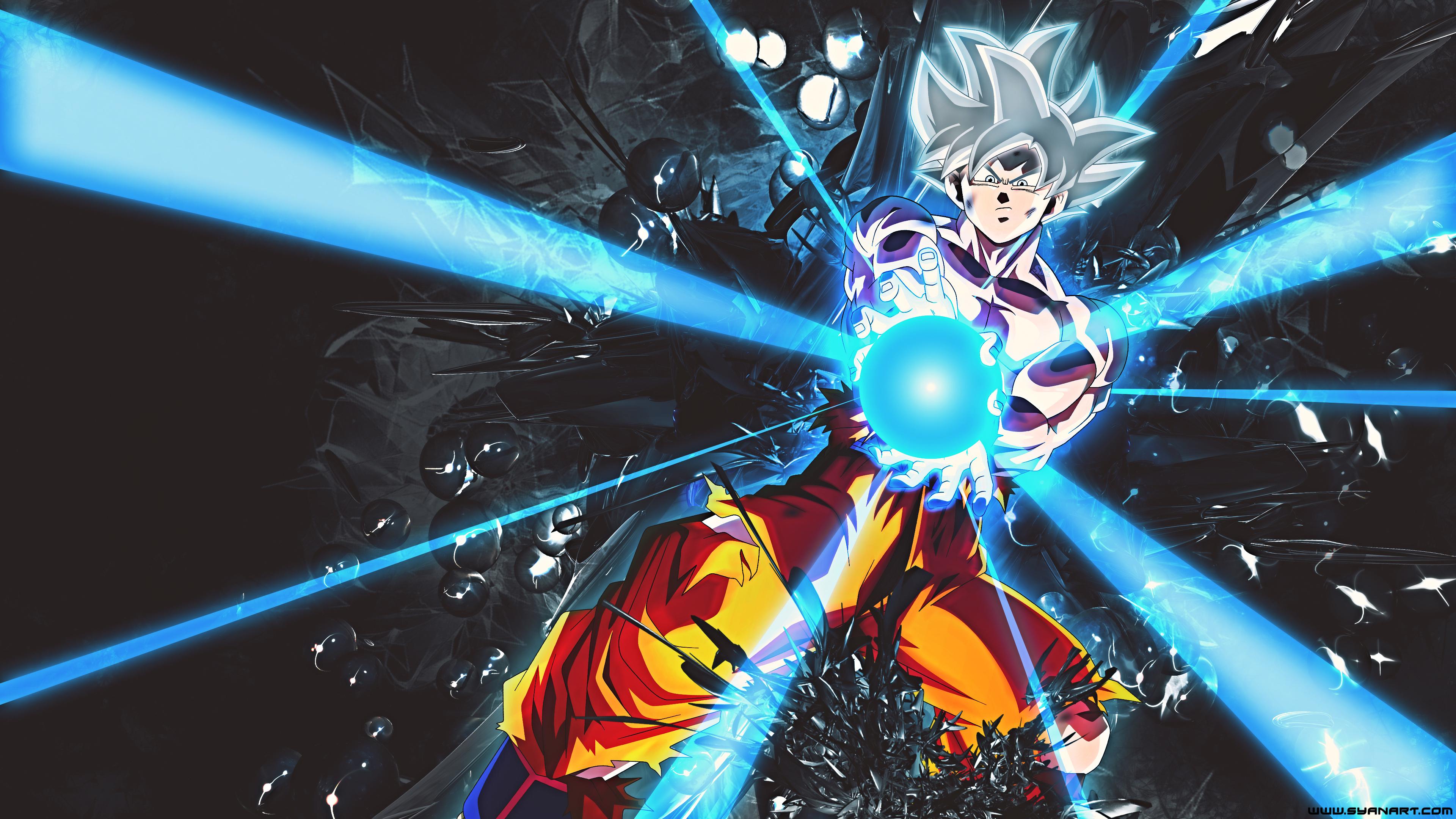 Dragon Ball Super Goku Ultra Instinct White 4k Wallpaper Syanart
