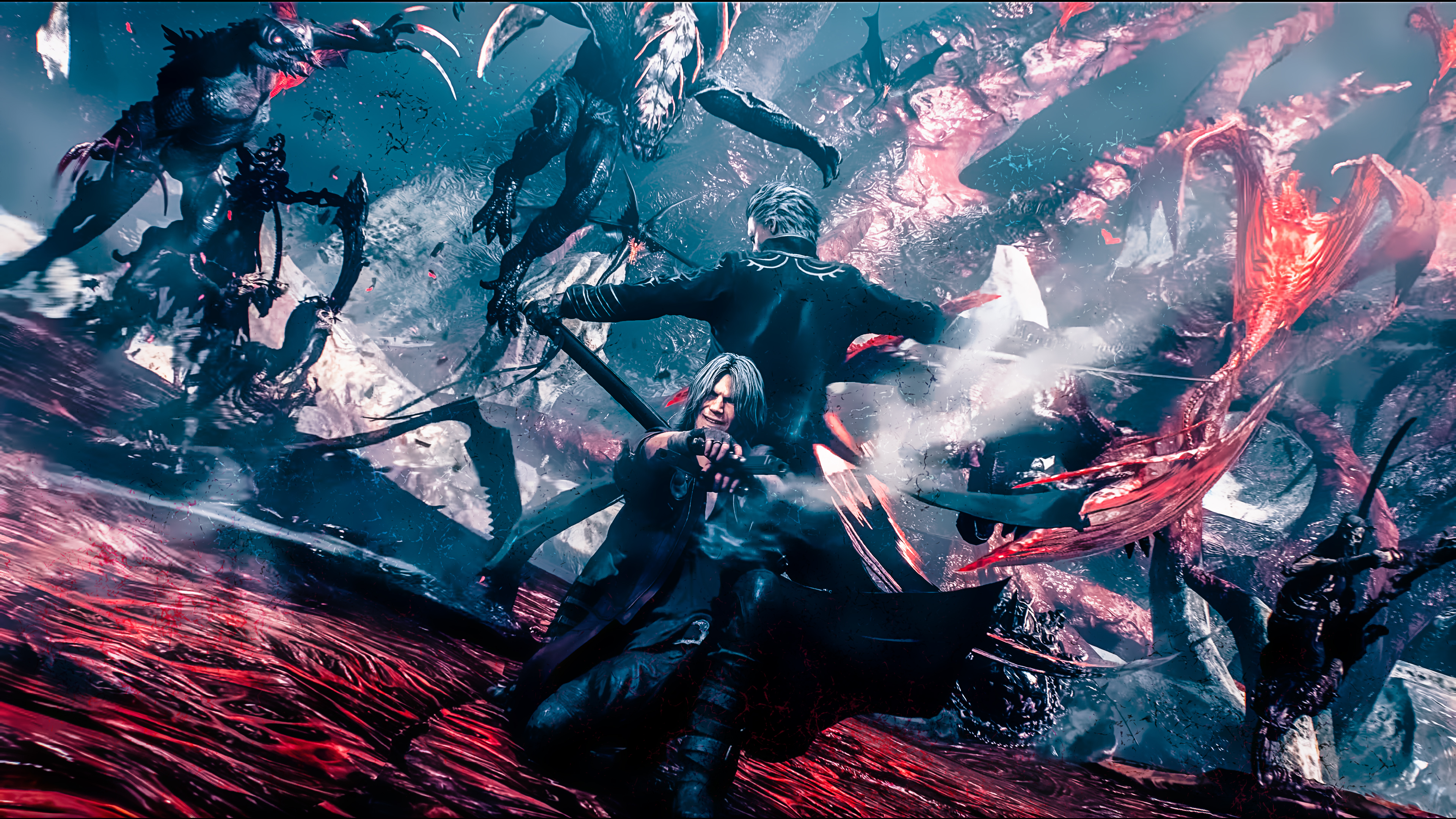 Devil May Cry 5 Dante And Vergil 4k Wallpaper Syanart Station