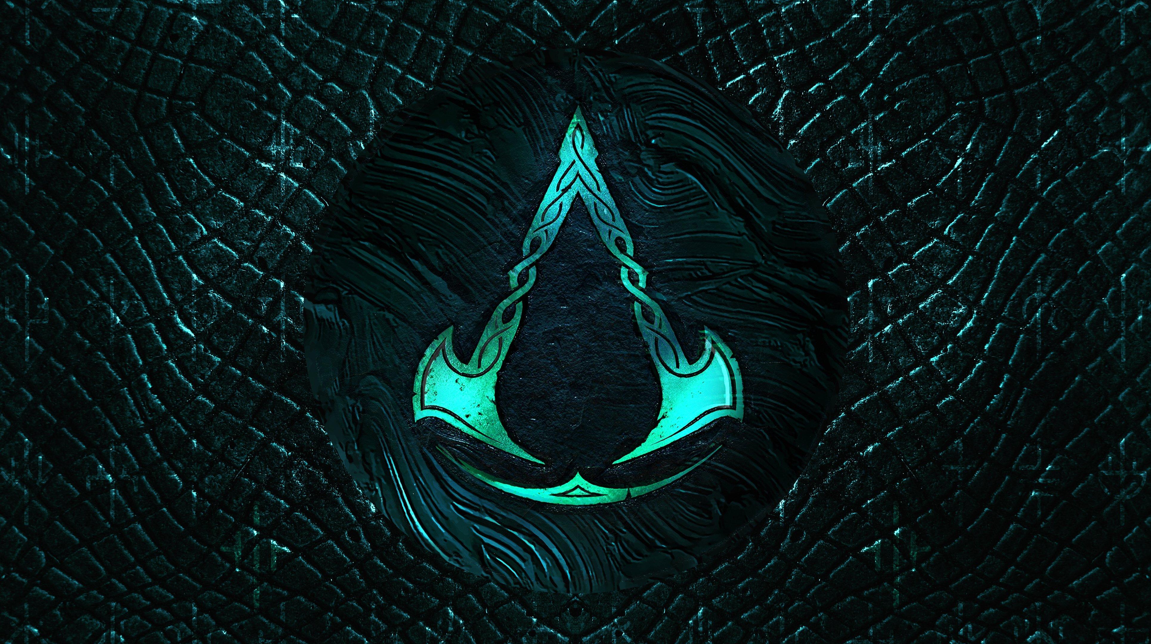 Assassin S Creed Valhalla 4k Logo Wallpaper Syanart Station