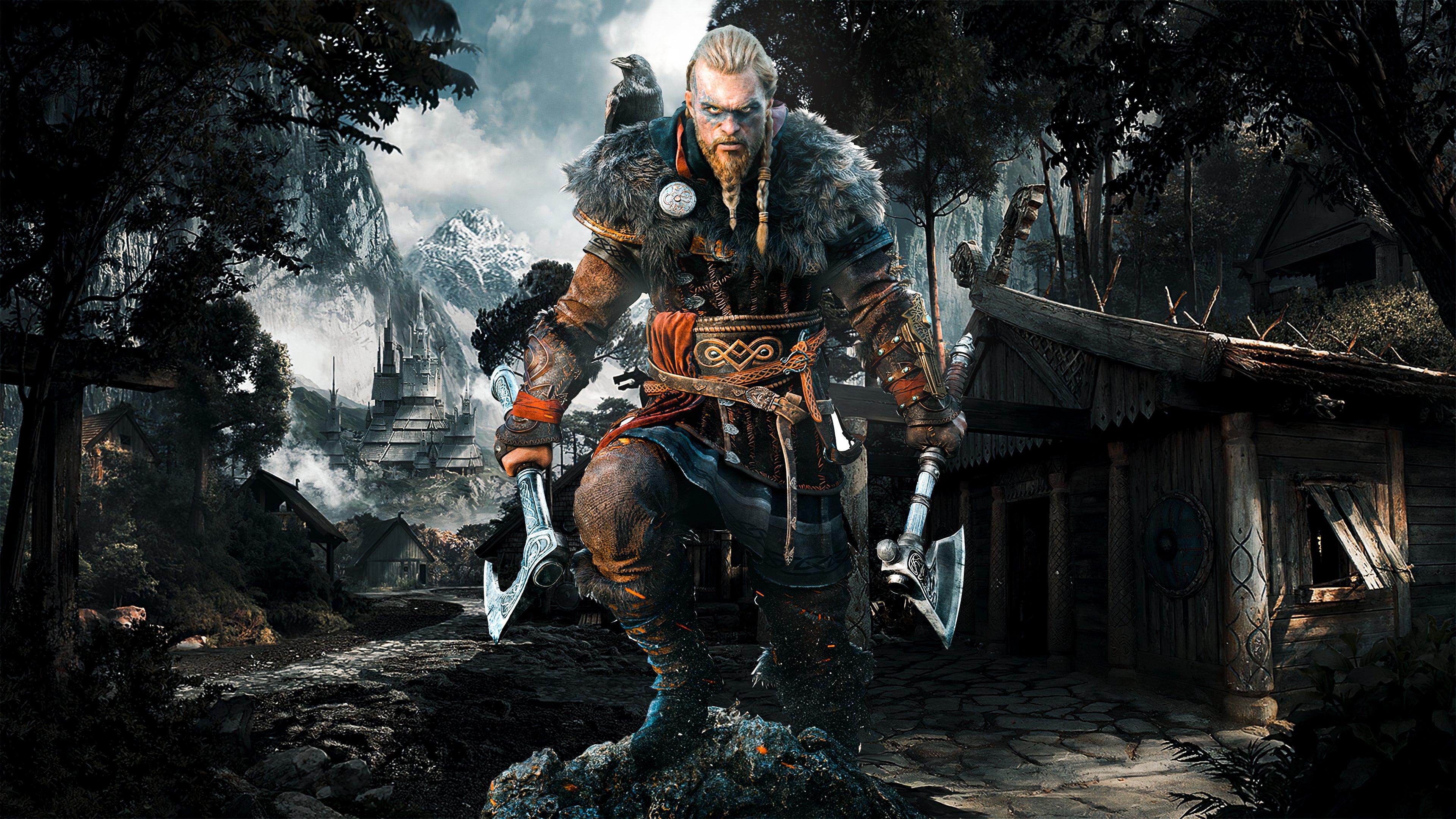 Assassin S Creed Valhalla Eivor 4k Wallpaper Syanart Station