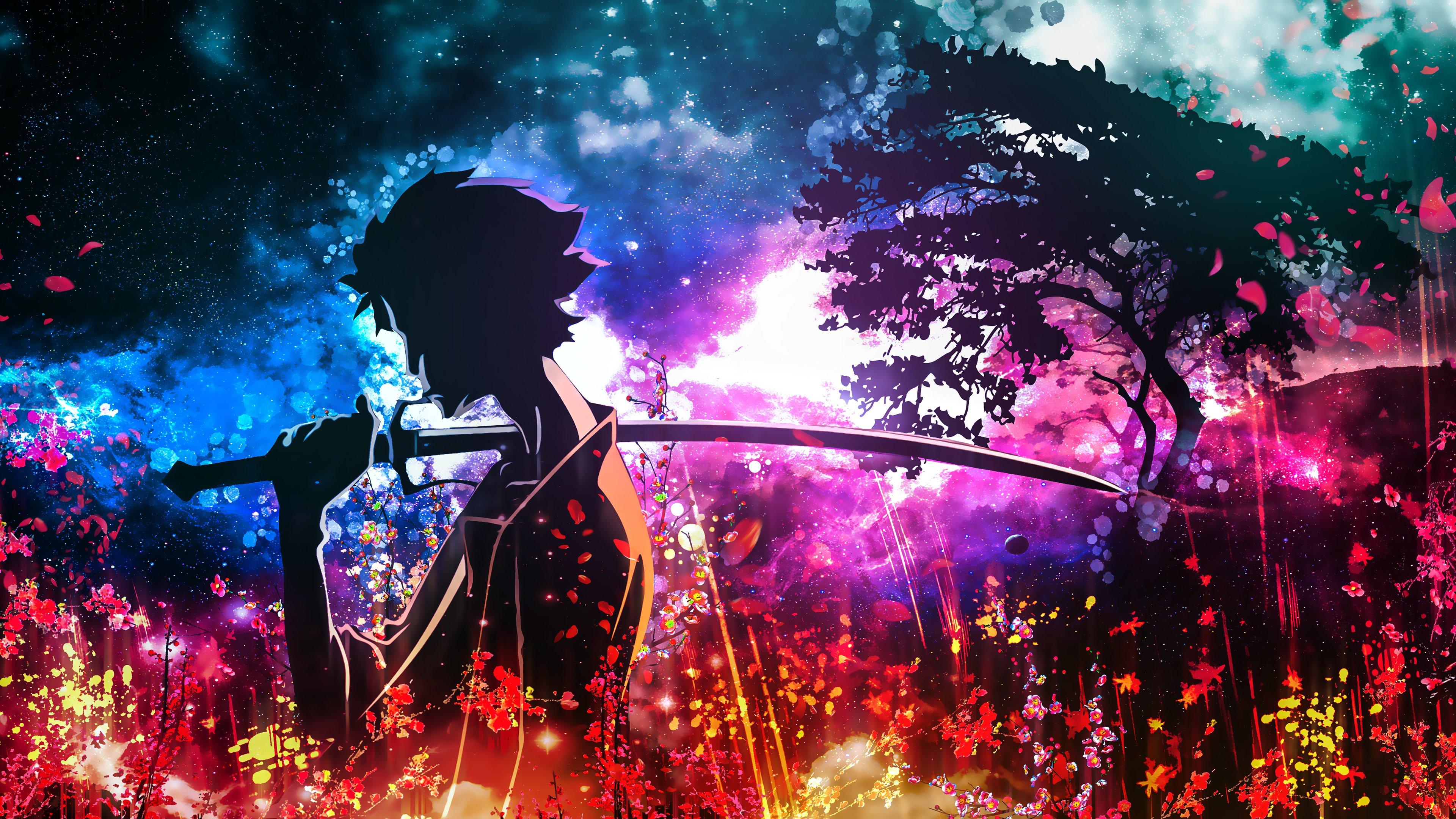 Samurai Champloo Mugen Star Sky Flower 4K Wallpaper ...