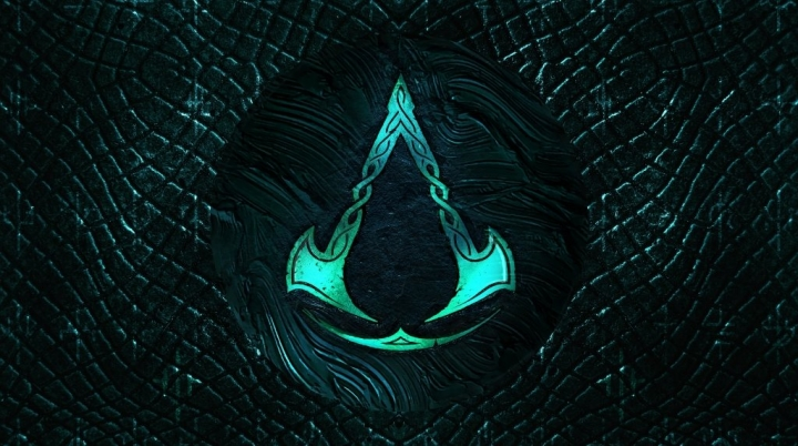 Assassin's Creed Valhalla 4K Logo Wallpaper