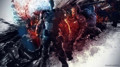 Batman Arkham Origins Deathstroke abstract wallpaper