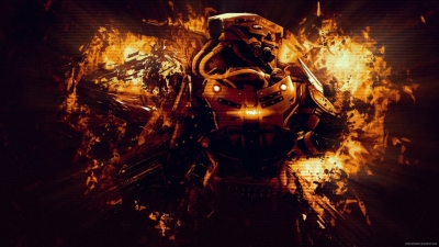 Killzone Sky Fall Abstract Wallpaper