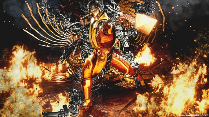 Mortal Kombat 11 Classic Scorpion 4k Wallpaper Syanart Station