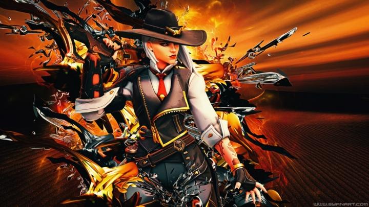 Overwatch Ashe 4K Wallpaper download