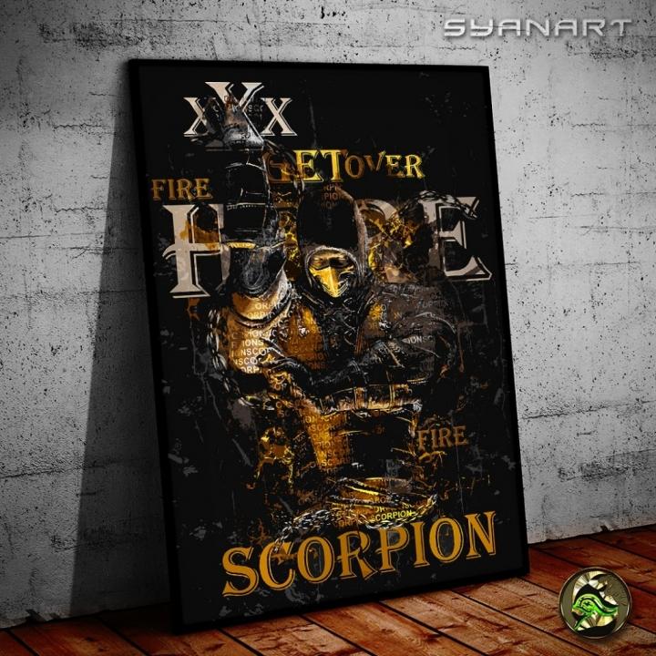 Mortal Kombat Scorpion Poster print