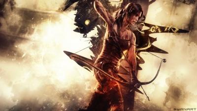 Tomb Raider reboot forest fire wallpaper