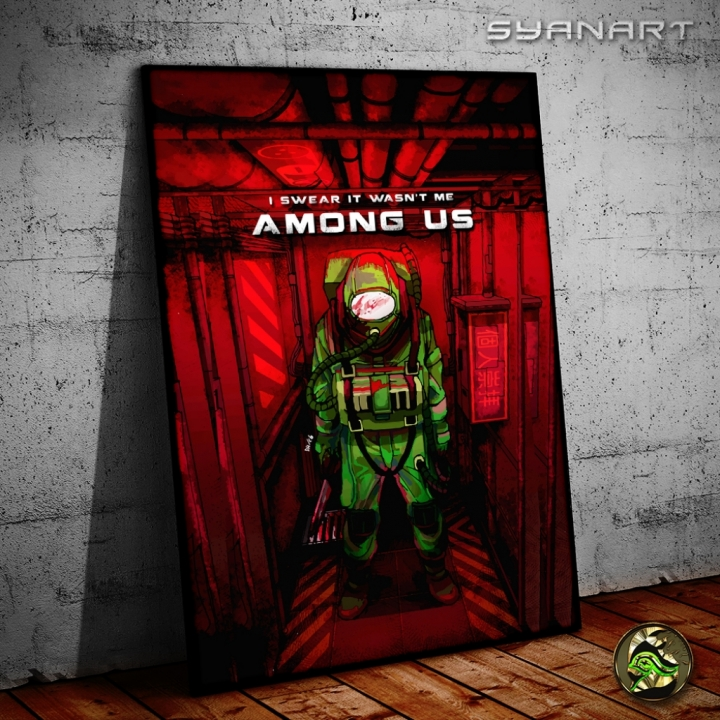 Among Us twitch Infiltrator Wallart