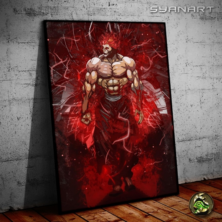 Yujiro Hanma The King Poster Print SyanArt Station