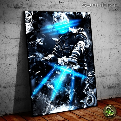 Dead Space White Snow Isaac Poster Print
