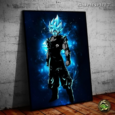 Dragon Ball Super Goku Super saiyan blue poster