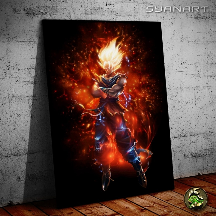 Goku super saiyan God Fanart poster