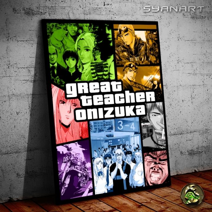 GTO Great Teacher Onizuka Artwork Wallart Canvas
