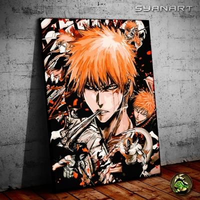 Bleach Ichigo Kurosaki Orange WallArt