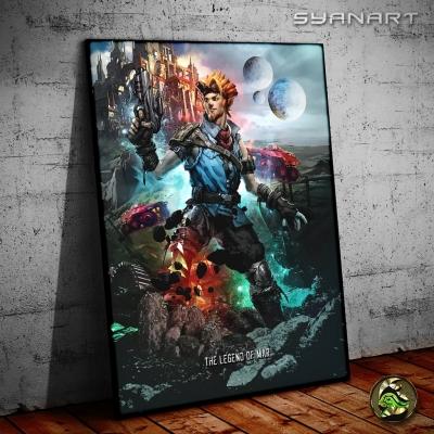 Jak 4 buy concept art poster print