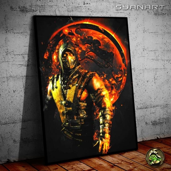Mortal Kombat X Scorpion WallArt Print