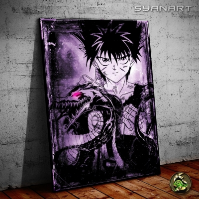Yuyu Hakusho Hiei Dark flame Dragon Wallart
